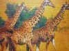 2012 new launched 3d plastic puzzle animal series giraffe