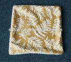 Printed cushion mink fleece embossed flower