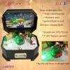 Santa Claus rotationg music box for Christmas