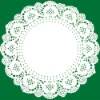 2012 hot selling round white paper doilies/eco-friendly lace doily