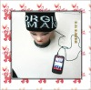 2012 fashion knitted hat with speakers