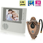 2.8 inch electronic peephole viewer with 3X digital zoom & doorbell function
