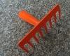 Mini garden rake/metal rake