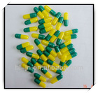 Pure Bovine Bone Gelatin empty hard capsules in Size 2 with Green/ Yellow Color