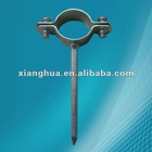 zinc plated without rubber nailed pipe clamp