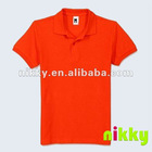 2012 Popular fruit of loom two color polo shirt, super dry orange sport shirt