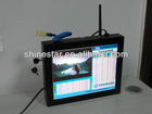 19inch wireless wifi/3G network split screen display LCD advertising commercial monitor with wall mounted