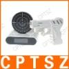 Laser gun target alarm table desk clock o'clock