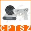 Laser gun target alarm table desk clock o'clock