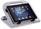 dual functions plastic desktop holder for tablet PC,stand for tablet PC,aslo used for laptop stand