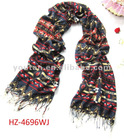 fashion design shawl scarf printed wave geometric figure