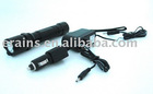Strong police rechargeable led flashlight or torch with CREE Q3 240LM in 3 modes of 100% light, 50% light and strobe