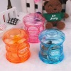 transparent POST plastic coin bank