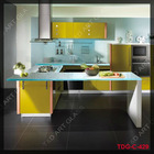 Aqua casting glass for kitchen countertop