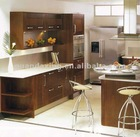 Modern Solid Wood Kitchen Cabinet for European Market