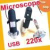 Free shipping Digital Microscope ----USB Digital Microscope 5x- 220x 8 built-in LED lights