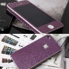 Deluxe chrome with soft leather Iphone 4 4s case/screen protector for free