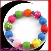 Big wood bead Bracelet for kids GBR21203C