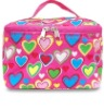 Cosmetic Bag Case Pouch with Heart Shape Print