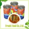 mackerel fish in tomato sauce in tin