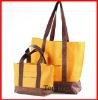 fashion orange 600D foldable shopping bag