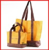 fashion orange 600D foldable shopping bag