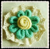 beautiful and simple cotton and hemp rope corsage flower for decoration