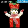 sparkling tinsel bow tie + bell light christmas Decoration (Outdoor MOQ: 200PCS , GS/CE/UL)