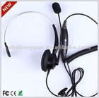 New model H100 Call center headset/headphone with RJ11 Plug and mic