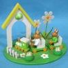 Wooden Easter Rabbit Candle Holder