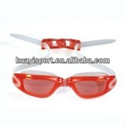 Waterproof custom cool silicone arena sports eyewear