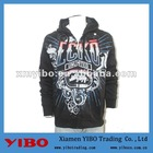 men's hip-pop plus size zipper scrawl hoody jacket