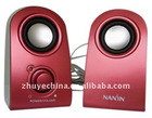 mini speaker system with USB/FM/SD card reader