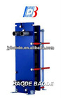 BH60 Series Titanium gasketed plate heat exchanger for sea water / swimming pool water heating