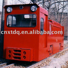 Battery-powered mining locomotive