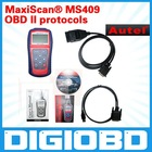all 1996 and later OBD II compliant US, European and Asian vehicles MaxiScan MS409 OBD II/EOBD Code Reader MS 409