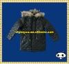 2012real fur collar duffle hooded winter baby children overcoat