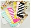 cheap colorful knee five toe socks