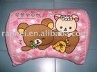 lovely bear pink cushion back neck body
