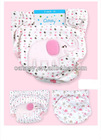 Pure cotton 3 layer TPU waterproof baby cloth diapers washable with embroideried elephant design