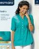 Ladies long sleeve blue blouses