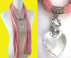 heart crystal fashion scarves pendant