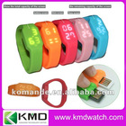 2012 new arrival and most fashion usb led watch with resistant