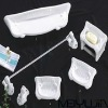 Elegant modern 6pcs modern square ceramic bathroom sets