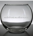 "3.5"" Clear Glass Globe Vases"