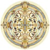 round marble inlay medallion