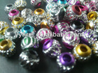 Bulk assorted colors jewelry aluminum carve beads!Wholesale metal jewelry spacer beads!High quality!