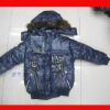 small boys new designer winter jacket with fur clothes