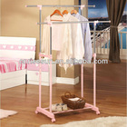 Cheap collapsible coat rack/ kids bedroom clothes rack two levels