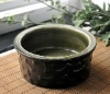 Decorative ceramic pet bowl feeder